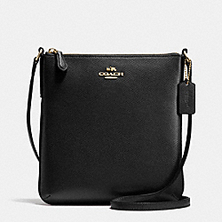 COACH NORTH/SOUTH CROSSBODY IN CROSSGRAIN LEATHER - LIGHT GOLD/BLACK - F36063