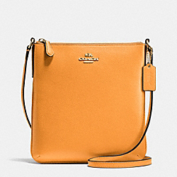 COACH NORTH/SOUTH CROSSBODY IN CROSSGRAIN LEATHER - IMITATION GOLD/ORANGE PEEL - F36063