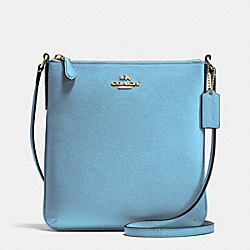 COACH NORTH/SOUTH CROSSBODY IN CROSSGRAIN LEATHER - IMITATION GOLD/BLUEJAY - F36063