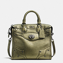 COACH MINI RHYDER 33 SATCHEL IN METALLIC PEBBLE LEATHER - QBGN9 - F36105