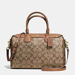 COACH BENNETT SATCHEL IN SIGNATURE - IMITATION GOLD/KHAKI/SADDLE - F36187
