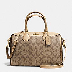 COACH BENNETT SATCHEL IN SIGNATURE - IMITATION GOLD/KHAKI/GOLD - F36187