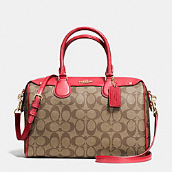 COACH BENNETT SATCHEL IN SIGNATURE - IMITATION GOLD/KHAKI/CLASSIC RED - F36187