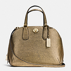 PRINCE STREET SATCHEL IN METALLIC PEBBLE LEATHER - f36190 - LIGHT GOLD/GOLD