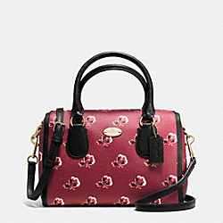 COACH MINI BENNETT SATCHEL IN BRAMBLE ROSE COATED CANVAS - IMBYM - F36203