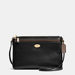 COACH EAST/WEST POP CROSSBODY IN BICOLOR METALLIC LEATHER - IME8Y - F36210