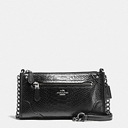 COACH MICKIE CROSSBODY IN EXOTIC MIX LEATHER - ANTIQUE NICKEL/BLACK - F36211