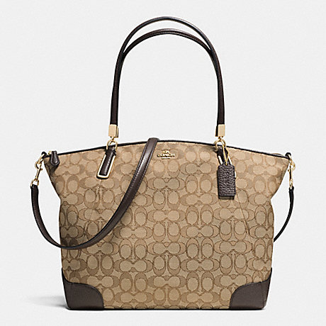 COACH KELSEY SATCHEL IN SIGNATURE -  LIGHT GOLD/KHAKI/BROWN - f36220