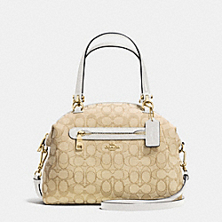 PRAIRIE SATCHEL IN SIGNATURE - f36311 - LIGHT GOLD/LIGHT KHAKI/CHALK