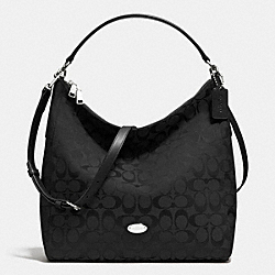 COACH CELESTE CONVERTIBLE HOBO IN SIGNATURE CANVAS - SILVER/BLACK/BLACK - F36377