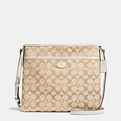 COACH FILE BAG IN SIGNATURE - IMITATION GOLD/LIGHT KHAKI/CHALK - F36378