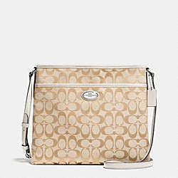 FILE BAG IN SIGNATURE - SILVER/LIGHT KHAKI/CHALK - COACH F36378