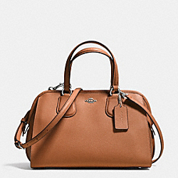 COACH NOLITA SATCHEL IN CROSSGRAIN LEATHER - SILVER/SADDLE - F36392