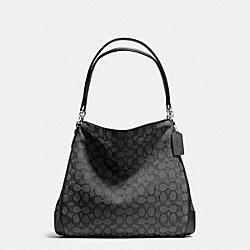 COACH PHOEBE SHOULDER BAG IN OUTLINE SIGNATURE - SILVER/BLACK SMOKE/BLACK - F36424