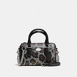 COACH BABY BENNETT SATCHEL IN OCELOT PRINT LEATHER - SILVER/GREY MULTI - F36449