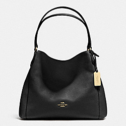 COACH EDIE SHOULDER BAG 31 IN PEBBLE LEATHER - LIGHT GOLD/BLACK - F36464