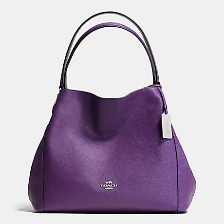 COACH EDIE 31 SHOULDER BAG IN CROSSGRAIN LEATHER - SILVER/VIOLET - f36468