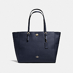 COACH TURNLOCK BABY BAG - NAVY/LIGHT GOLD - F36469