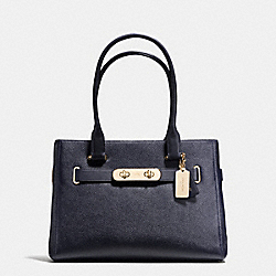COACH SWAGGER CARRYALL IN PEBBLE LEATHER - f36488 - LIGHT GOLD/NAVY