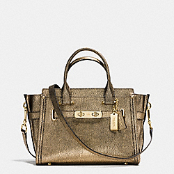 COACH SWAGGER 27 IN METALLIC PEBBLE LEATHER - LIGHT GOLD/GOLD - COACH F36497