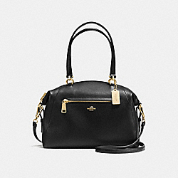 LARGE PRAIRIE SATCHEL IN PEBBLE LEATHER - f36560 - LIGHT GOLD/BLACK