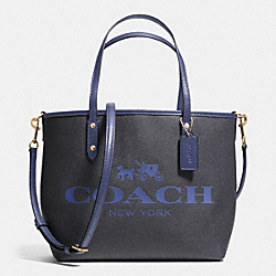 COACH SMALL METRO TOTE IN COATED CANVAS - IMITATION GOLD/MIDNIGHT - F36588