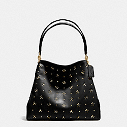 COACH ALL OVER STUD PHOEBE SHOULDER BAG IN CALF LEATHER - IMITATION GOLD/BLACK - F36590