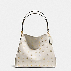 COACH ALL OVER STUD PHOEBE SHOULDER BAG IN CALF LEATHER - IMITATION GOLD/CHALK - F36590