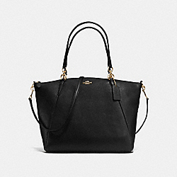 COACH KELSEY SATCHEL IN PEBBLE LEATHER - IMITATION GOLD/BLACK - F36591
