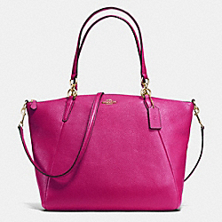 COACH KELSEY SATCHEL IN PEBBLE LEATHER - IMITATION GOLD/CRANBERRY - F36591