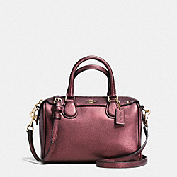 COACH BABY BENNETT SATCHEL IN CROSSGRAIN LEATHER - IMITATION GOLD/METALLIC CHERRY - F36592
