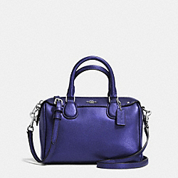COACH BABY BENNETT SATCHEL IN CROSSGRAIN LEATHER - SILVER/METALLIC PURPLE IRIS - F36592