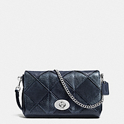 COACH MINI RUBY CROSSBODY IN PATCHWORK LEATHER - SILVER/BLUE MULTICOLOR - F36593