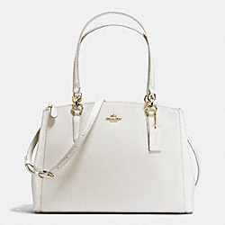 COACH CHRISTIE CARRYALL IN CROSSGRAIN LEATHER - IMITATION GOLD/CHALK - F36606