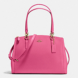 COACH CHRISTIE CARRYALL IN CROSSGRAIN LEATHER - IMITATION GOLD/DAHLIA - F36606