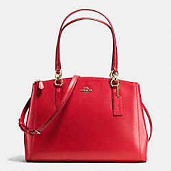 COACH CHRISTIE CARRYALL IN CROSSGRAIN LEATHER - IMITATION GOLD/CLASSIC RED - F36606