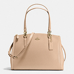 COACH CHRISTIE CARRYALL IN CROSSGRAIN LEATHER - IMITATION GOLD/NUDE - F36606