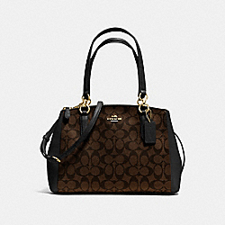 SMALL CHRISTIE CARRYALL IN SIGNATURE - f36619 - IMITATION GOLD/BROWN/BLACK
