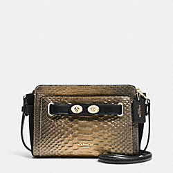COACH BLAKE CROSSBODY IN METALLIC EXOTIC EMBOSSED LEATHER - IMITATION GOLD/GOLD/BRONZE - F36623