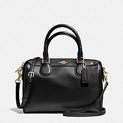 COACH MINI BENNETT SATCHEL IN CROSSGRAIN LEATHER - IMITATION GOLD/BLACK - F36624