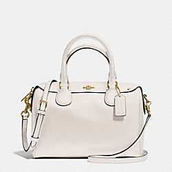 COACH MINI BENNETT SATCHEL IN CROSSGRAIN LEATHER - IMITATION GOLD/CHALK - F36624