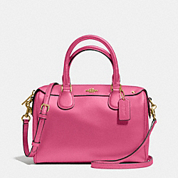 COACH MINI BENNETT SATCHEL IN CROSSGRAIN LEATHER - IMITATION GOLD/DAHLIA - F36624