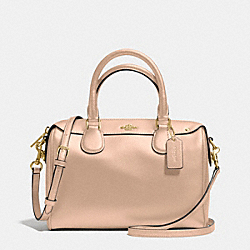 MINI BENNETT SATCHEL IN CROSSGRAIN LEATHER - f36624 - IMITATION GOLD/BEECHWOOD