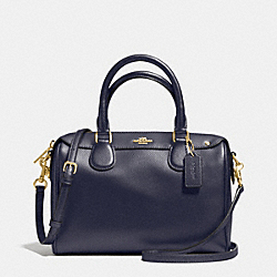 MINI BENNETT SATCHEL IN CROSSGRAIN LEATHER - f36624 - IMITATION GOLD/MIDNIGHT