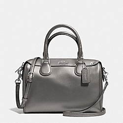 COACH MINI BENNETT SATCHEL IN CROSSGRAIN LEATHER - SILVER/PEWTER - F36624