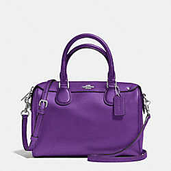 MINI BENNETT SATCHEL IN CROSSGRAIN LEATHER - f36624 - SILVER/PURPLE