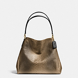 COACH PHOEBE SHOULDER BAG IN METALLIC SNAKE EMBOSSED LEATHER - IMITATION GOLD/GOLD - F36627