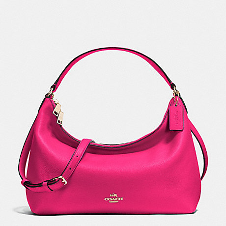 COACH SMALL EAST/WEST CELESTE CONVERTIBLE HOBO IN PEBBLE LEATHER - IMITATION GOLD/PINK RUBY - f36628