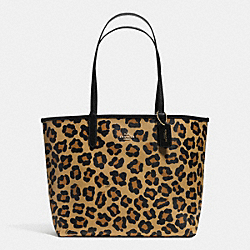 COACH REVERSIBLE CITY TOTE IN WILD BEAST PRINT CANVAS - IMITATION GOLD/BLACK/NEUTRAL - F36643