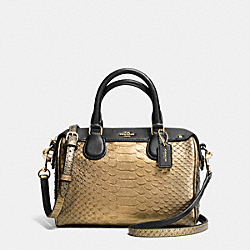 COACH BABY BENNETT SATCHEL IN METALLIC SNAKE EMBOSSED LEATHER - IMITATION GOLD/GOLD - F36657